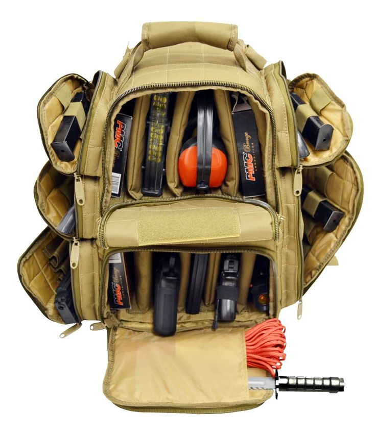 Ultimate Deluxe Tactical Pistol Range Backpack Polyester 1200D Heavy Duty