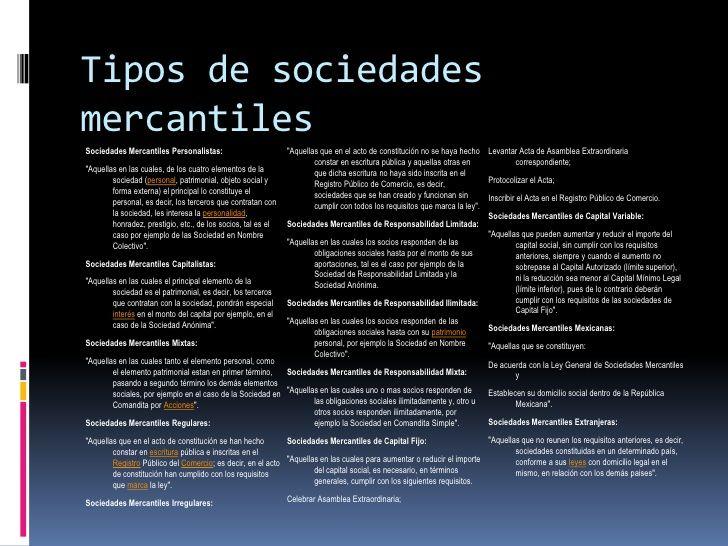 Resultado de imagen para tipos de sociedades mercantiles