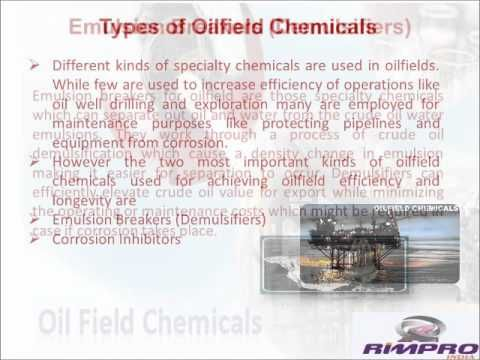 This video provides information on oilfield chemicals, types of oilfield chemicals, importance of oilfield chemicals like emulsion breakers, water and oil line corrosion inhibitors in oilfield