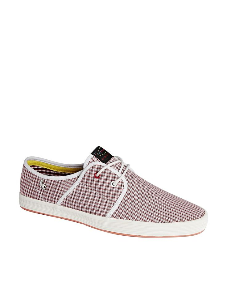 Fish & Chips by Base London Gingham Plimsolls