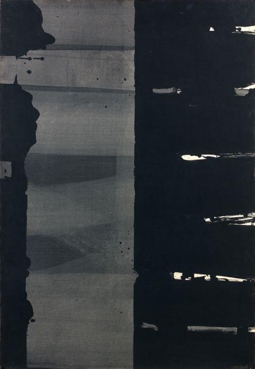 blastedheath: Pierre Soulages (French, b. 1919), Gouache sur papier, 108,5 ×…