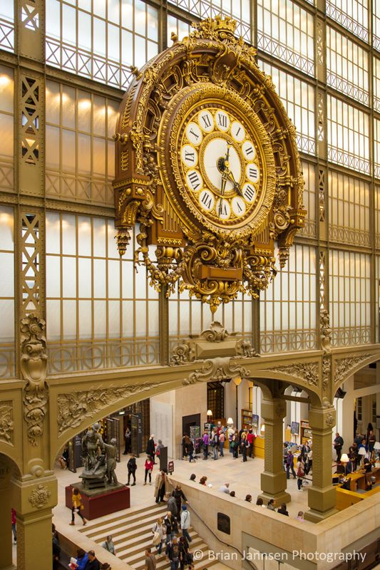 Musee d'Orsay clock, Paris France. © Brian Jannsen Photography