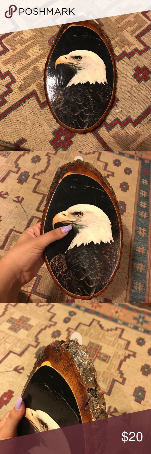 Wooden eagle plaque 🦅 Awesome vintage wooden eagle plaque.  Some scratches on picture as pictured but can easily be touched up with some craft paint or even a sharpie. Vintage Other