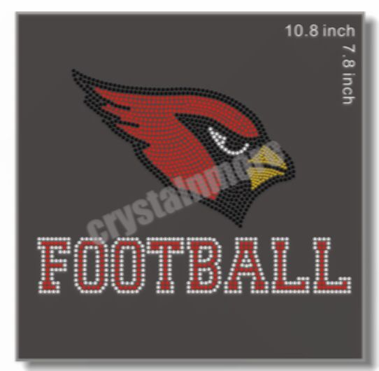 Check out this product on Alibaba.com APP Cardinals Football Iron On Rhinestone Transfer Designs for t shirt