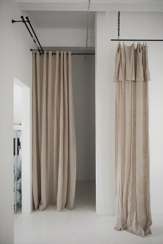 Drop Cloth Linen Curtains 22 Colors Linen Window Curtains