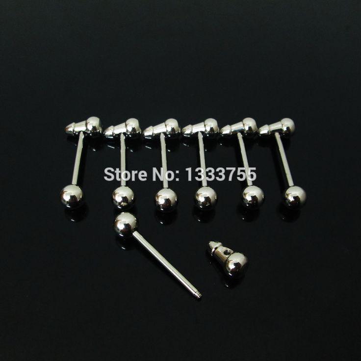 Подарок 1 пара 1.6 * 18 * 6 / ( 6 * 10 ) мм молоток язык штанга нержавеющая сталь пирсинг языка кольцо