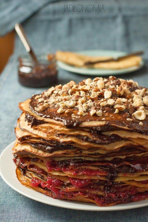 jadłonomia • roślinne przepisy: Tort naleśnikowy z kremem kawowo-czekoladowym