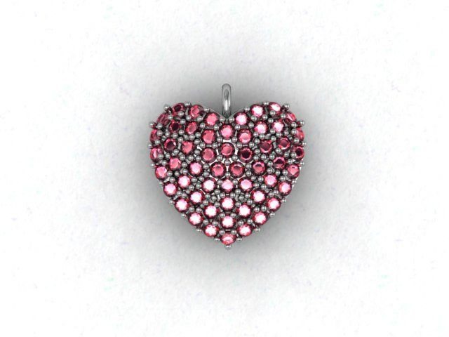Beautiful Heart Charm - Chris Winspear designed it for Valentine's Day! The charm is available in diverse designs: from Silver to Platinum / from Cubics to Rubies.