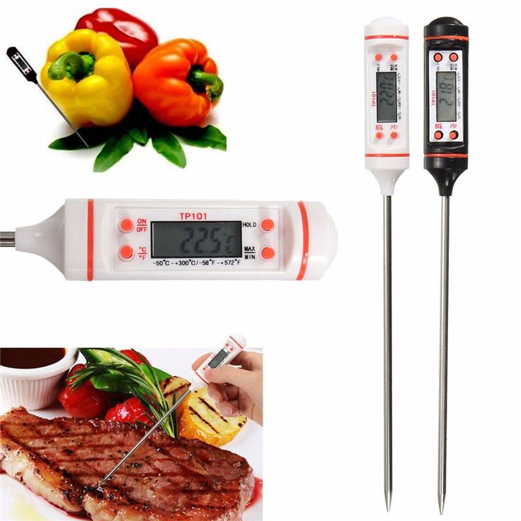Lcd Digital Food Probe Thermometer Modern Kitchen Cooking Bbq Temp Test Detector