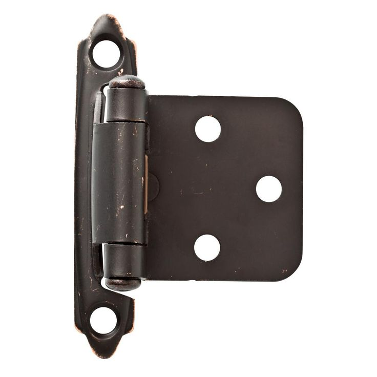 Liberty Venetian Bronze with Copper Highlights Self-Closing Overlay Hinge (1-Pair)