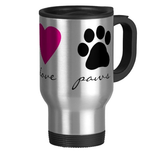 Peace Love Paws Coffee Mug.  $22.95