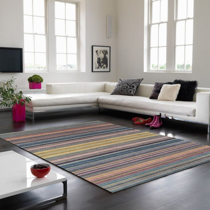 Pimlico Fine Stripe Blue Rug By Asiatic Colourful & Trendy Bands, this Pimlico Fine Stripe Blue Rug is made using 100% wool fibre. Soft, Durable, Hardwearing, Resilient, Water Repellent & Good Heat Insulator. #stripedrugs #handmaderugs #woolrugs #luxuriousrugs