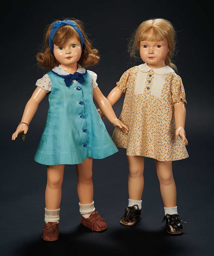 """Pair, """"American Children"""" Dolls Designed by Dewees Cochran for Effanbee $500+ Auctions Online 