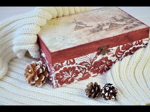 Csipkemintás karácsonyi doboz // Lace patterned box for Christmas - YouTube