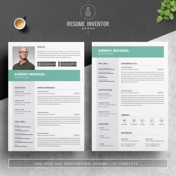 Minimal 2 Page Resume Design 2 Page Cv Template Cover Letter Template Professional 2 Page Re Resume Design Minimal Graphic Design Resume Template Word