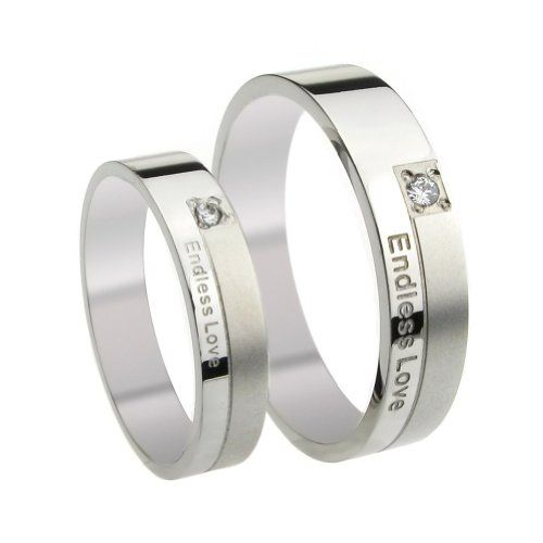 """$8.99  List price is for one ring only. Purchase two rings for a matching set. The promise ring is made of highest grade 316L stainless steel, oxidized casting finish with unique design. The stainless steel ring consists of the words """"Endless Love"""" outside. Wear it with peace of mind everyday. Stainless steel is hypoallergenic with high resistance to rust, corrosion, tarnishing and requires minimal maintenance in order to keep it looking like new..."""