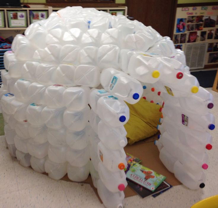 Milk jug igloo classroom ideas pinterest activities for How to build an igloo out of milk jugs