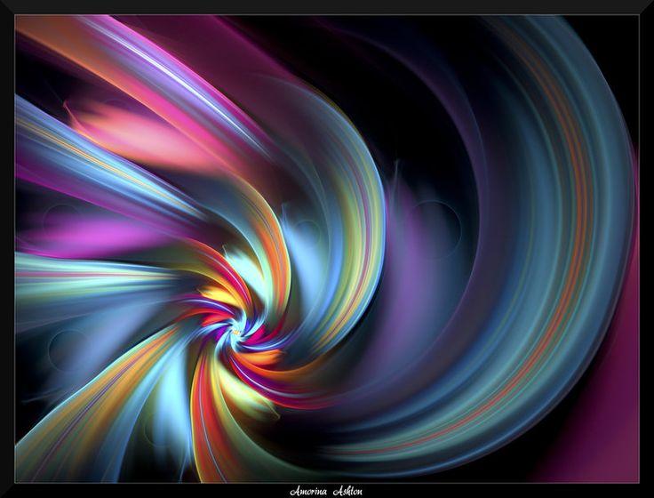 amazing rainbow fractal art - photo #29