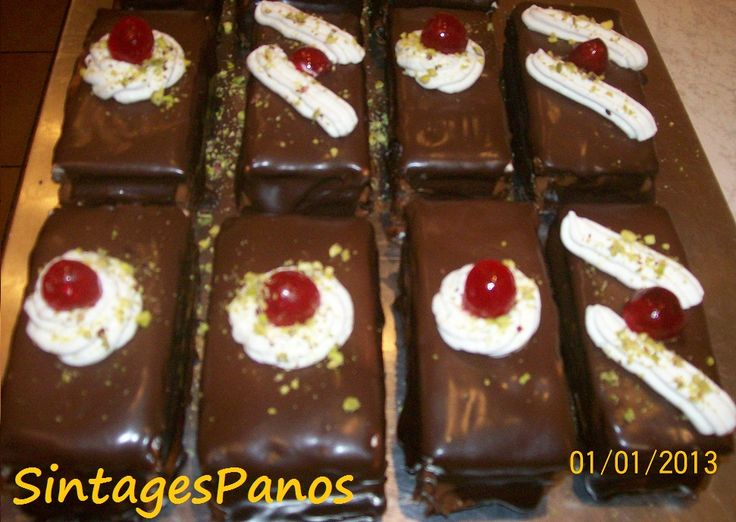Ζαχαροπλαστική Πanos: Πάστες σοκολατίνες