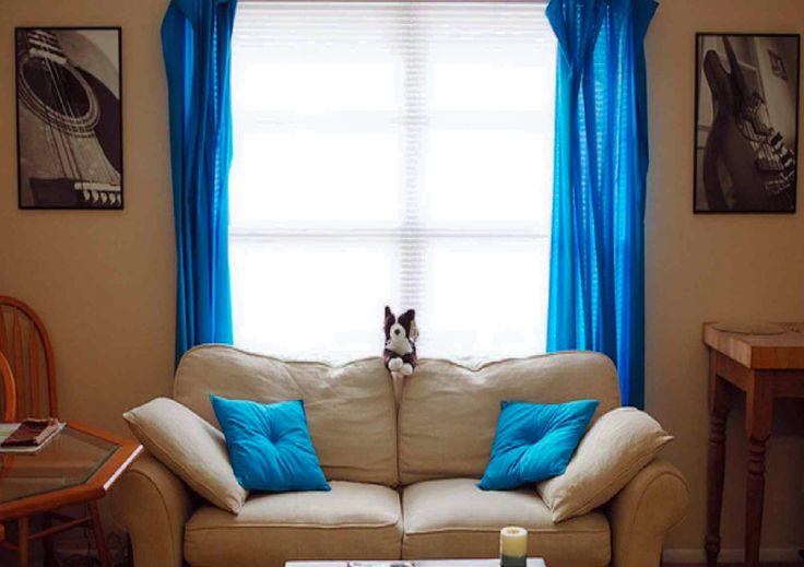 Так как синий цвет принадлежит к холодной палитре, то он действует освежающе и несколько прохладно. Это говорит о том, что данный цвет прекрасно подойдет комнатам с окнами на восток. А вот тем помещениям, чьи окна выходят на север, синий не очень подходит, он сделает их слишком холодными, так же как и маленькие темные комнаты. Но, в принципе, синий цвет и его оттенки хорошо подходят любой комнате, главное, правильно выбрать тон и подобрать сочетание с другими цветами.