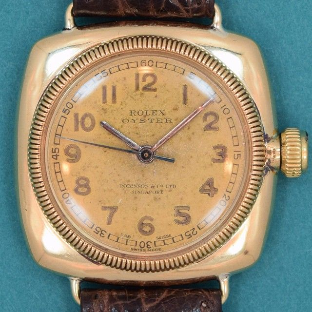 dc92526a1e6 Just arrived: an extremely rare, very early c.1925 Rolex Oyster ...