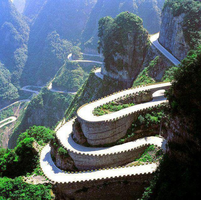 Tianmen mountain  Road,  Hunan province,  China