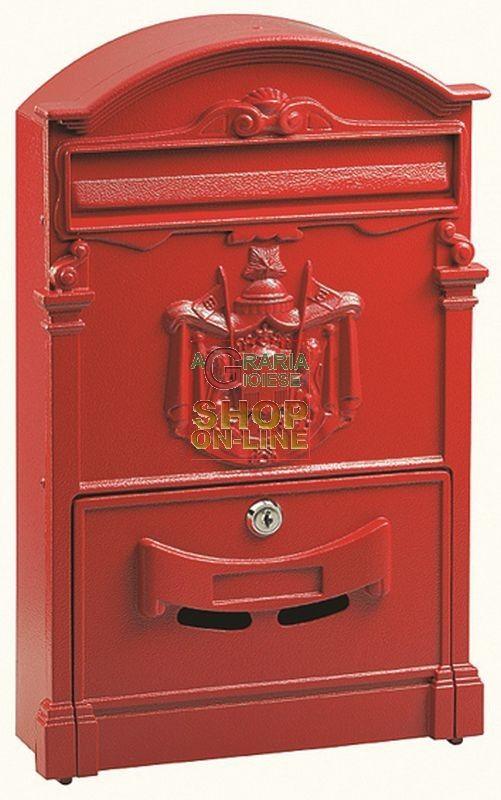 CASSETTA DELLA POSTA IN ALLUMINIO MOD. REGIA COLORE ROSSA http://www.decariashop.it/cassette-della-posta/3311-cassetta-della-posta-in-alluminio-mod-regia-colore-rossa.html