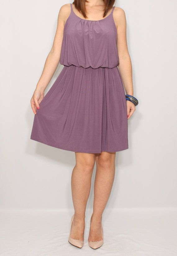 Plum dress Purple Bridesmaid dress Short dress Party by dresslike