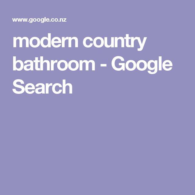 modern country bathroom - Google Search