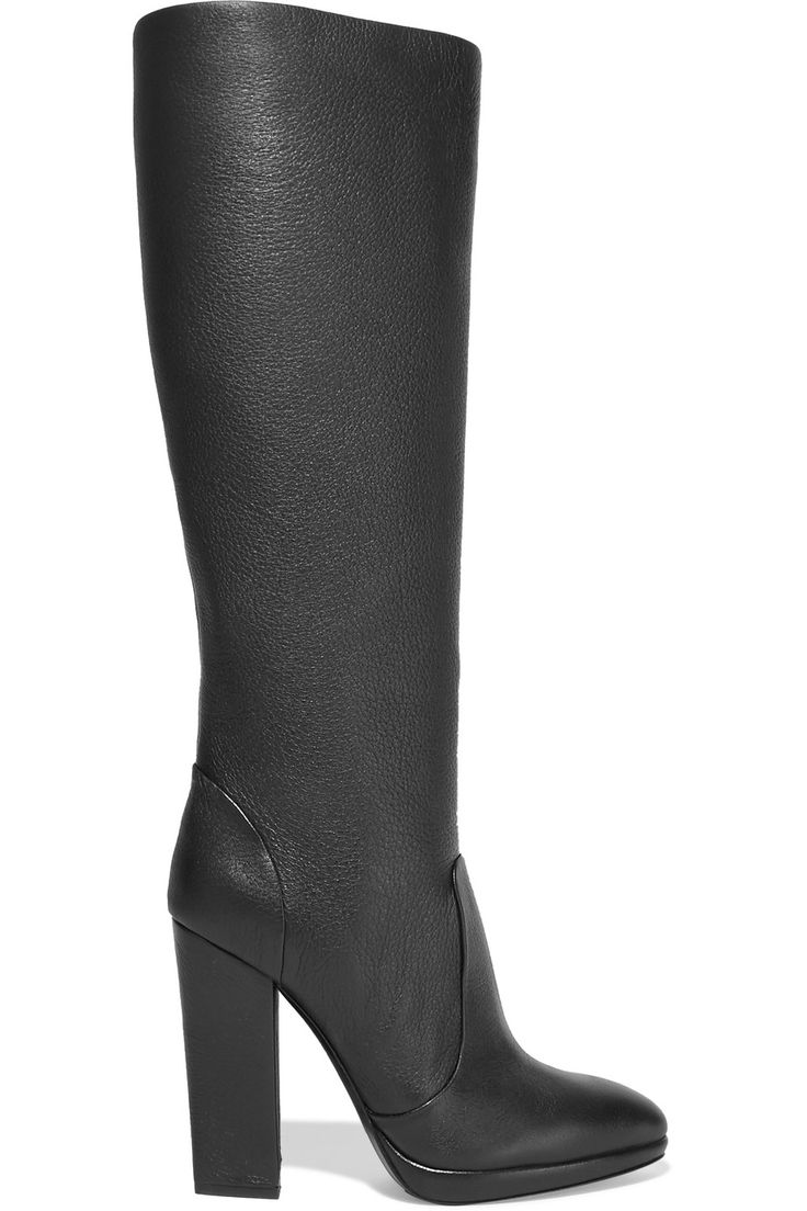 Shop on-sale Giuseppe Zanotti Textured-leather knee boots. Browse other  discount designer