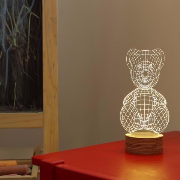Lampe Ourson A Effet 3d Veilleuse Enfant Lampe A Poser Lampe Led