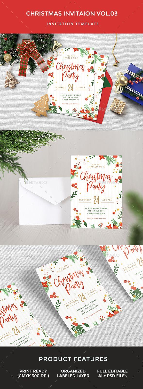 company christmas party invitation templates%0A Christmas Invitation  Invitation Card