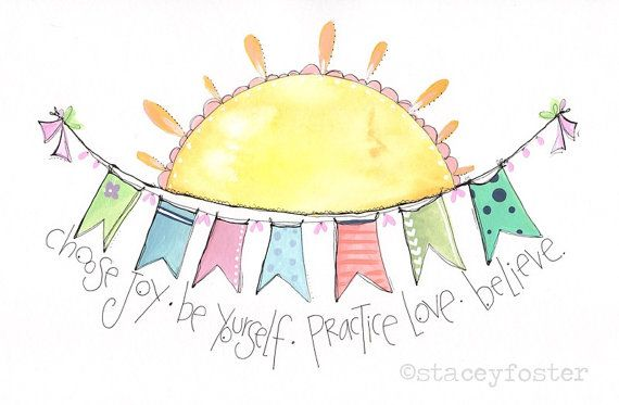 You are my sunshine - Sunshine art - Artwork for by Stacey Foster for www.onetinybutterfly.etsy.com