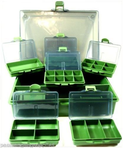 Fishing-Tackle-Bit-Box-System-6-Small-1-Large-for-hooks-swivels-rigs-shot-etc