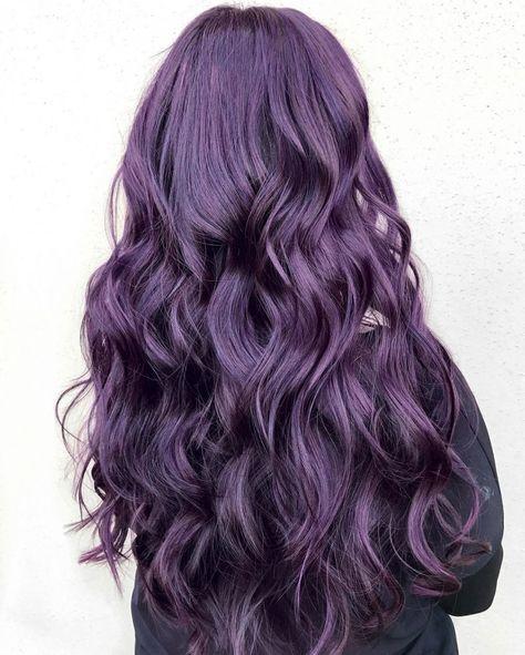Populaire Les 25 meilleures idées de la catégorie Cheveux violet foncé sur  ZU46