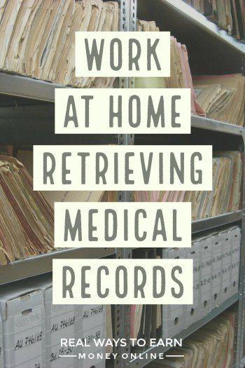 Work at home retrieving medical records for Parameds