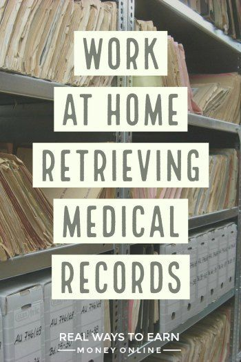 Work at home retrieving medical records for Parameds