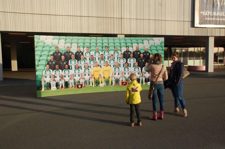 Foto van FC Groningen op het Europapark. Foto: Marco in 't Veldt