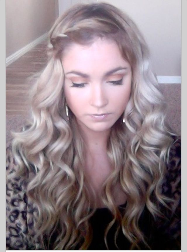 I can do this- using a bubble wand from bed head and a simple waterfall braid