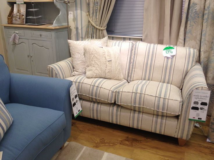 laura ashley blue striped sofa chairs pinterest. Black Bedroom Furniture Sets. Home Design Ideas