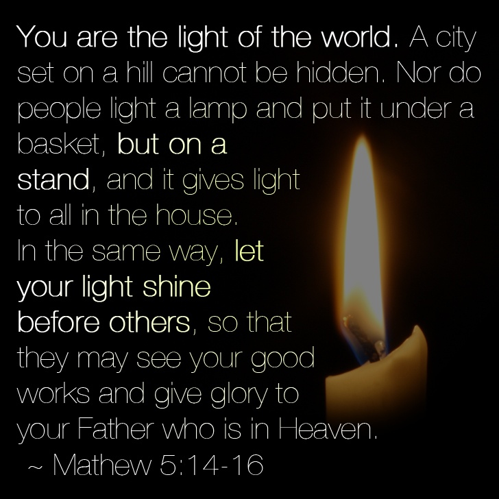 The 25 best mathew 5 ideas on pinterest mathew 5 9 for Light a lamp and put it under a basket