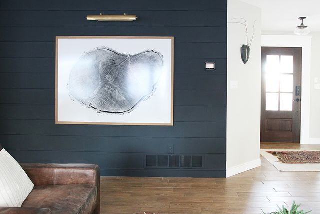 A Dark Shiplap Accent Wall For Under 75 Chris Loves Julia Walls Living Rooms And Room