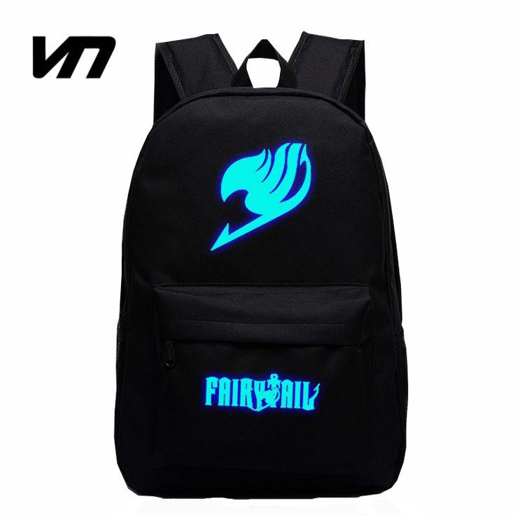 2016 Japan Anime Printing Backpack Cute Fairy Tail Backpack School Bag For Teenagers Luminous Galaxy Nylon Backpack Travel Bags