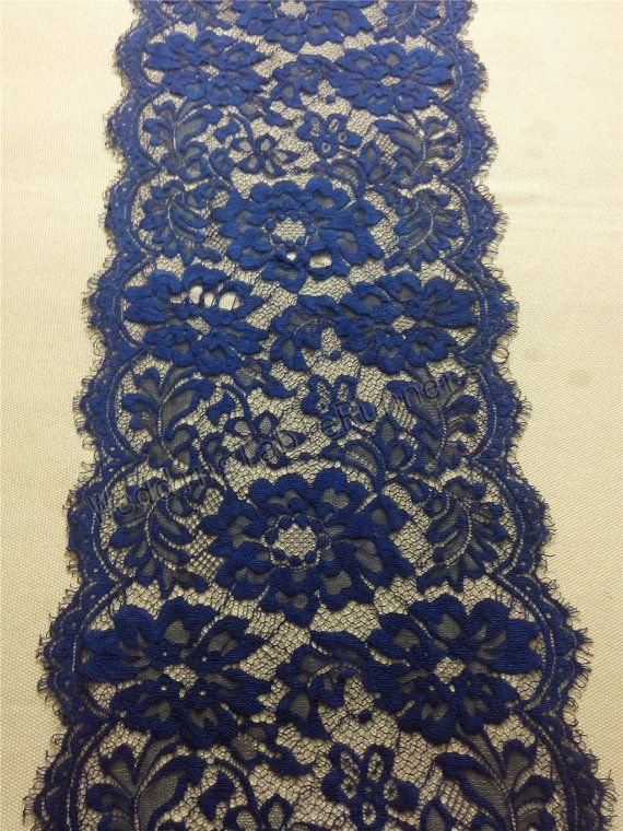 30ft navy Table runner 10  lace table by WeddingTableRunners
