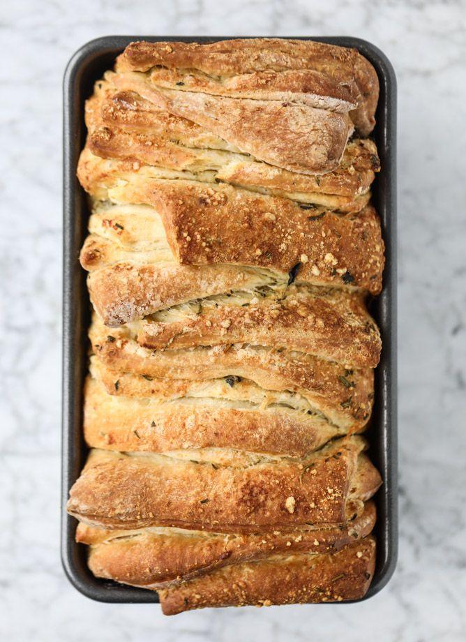 Garlic Pull Apart Bread - Roasted Garlic Parmesan Herb Pull Apart Bread