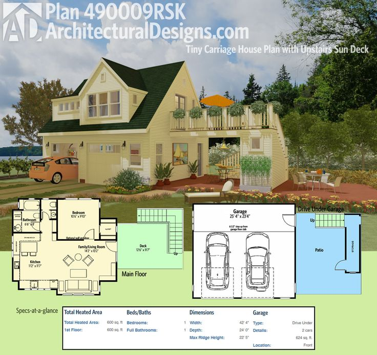 Architectural Designs Tiny House Plan With Upstairs Sun