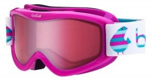 """""""Bolle Amp Ski Goggles"""" - Double lens creates a dual-pane thermal barrier. Flow-Tech venting system. Junior 3-8 years."""