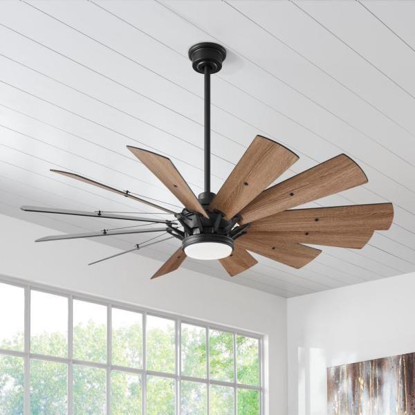 The Home Depot Logo Gray Ceiling Fan Farmhouse Ceiling Fan