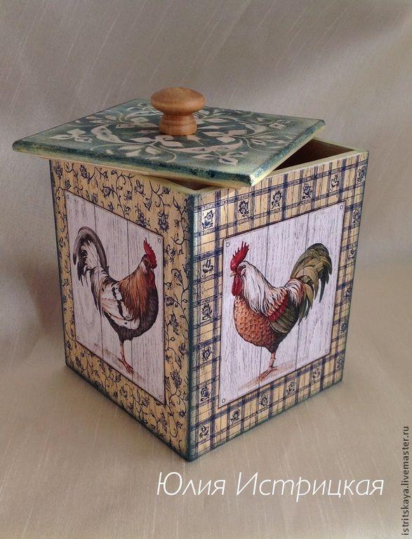 Купить Короб для кухни Пасха - разноцветный, курочки, курочка, петушок, петушки, ферма, сельский стиль