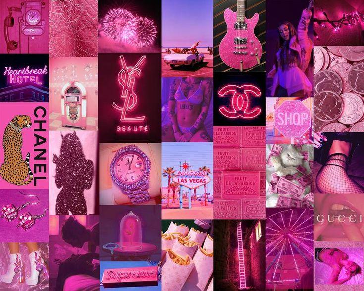 Purple Aesthetic Collage Kit